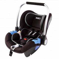 Scaun auto Sparco F300i, recomandat copiilor pana la 18 luni (aprox. 0-13kg), Gri