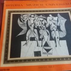 DISC VINIL ZENO VANCEA ISTORIA MUZICII UNIVERSALE IN EXEMPLE DISCUL NR 1