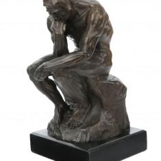 Ganditorul - statueta din bronz pe soclu din marmura  BM215