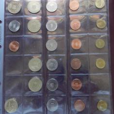 Minicolectie monede Romania dupa denominare 2005 - 2019, 68 monede de circulatie