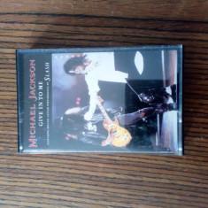 Michael jackson give in to me caseta audio originala maxi single