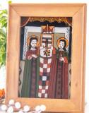 Sfinții Petru și Pavel (Nicula, secol XIX) -Icoană pictată pe sticlă