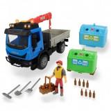 Cumpara ieftin Camion Joaca Dickie Toys Recycling Container Set cu figurina si accesorii