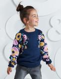 Pulover cu imprimeu floral Mushi