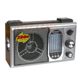 Radio portabil Raiseng 2008UAT, 10 benzi, model retro