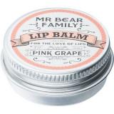 Mr Bear Family Pink Grape balsam de buze pentru barbati