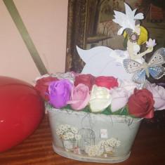 Aranjament trandafiri de sapun - Balerina  - OKAZIE