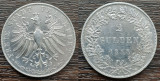 (A809) MONEDA DIN ARGINT GERMANIA - 2 GULDEN 1848, ORADUL LIBER FRANKFURT, RARA, Europa