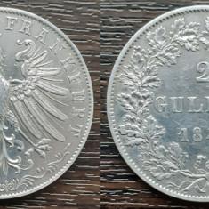 (A809) MONEDA DIN ARGINT GERMANIA - 2 GULDEN 1848, ORADUL LIBER FRANKFURT, RARA