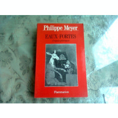 EAUX FORTES - PHILIPPE MEYER (CRONICA POLITICA, CARTE IN LIMBA FRANCEZA)