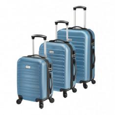 [pro.tec]® Set 3 Valize Tip Troler 3, 43 x 26,5 x 69 cm, ABS plastic, ...