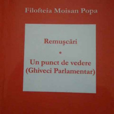 Remuscari Un Punct De Vedere - Filofteia Moisan Popa ,294692