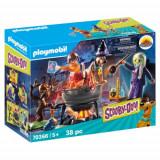 Set de Constructie Scooby-Doo Aventuri cu Vrajitoare, Playmobil