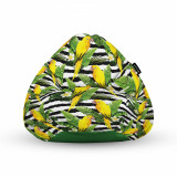 Cumpara ieftin Fotoliu Units Puf (Bean Bag) tip para, impermeabil, cu maner, 80 x 90 x 68 cm, papagal galben