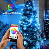 Cumpara ieftin Instalatie smart iSparkle cu 198 LED-uri RGB Wi-Fi, control smartphone, lungime 19.8 m, interior/exterior