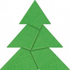 Joc inteligenta IQ game din piatra Christmas Tree, 8 x 8 cm, 5 piese