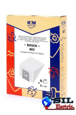 Sac aspirator pentru Bosch/Siemens typ E,D,G, hartie, 5 saci + 1 filtru, K&M foto