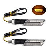 Set 2 Semnale Semnalizari Moto Scuter - LED ( negru )
