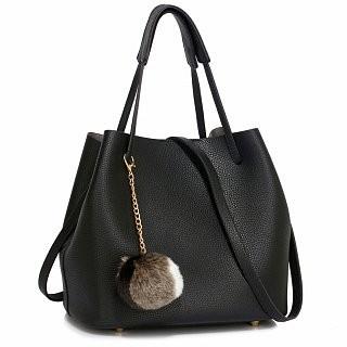 Anna Grace AG00190 geantă pe umăr neagra foto