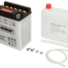 Baterie moto Acid cu intretinere 4 RIDE 12V 14Ah 190A R+ aerisire stanga 136x91x168 Incarcare uscata cu acid