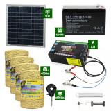 Pachet gard electric cu Panou solar 3,1J putere cu 4000m Fir 160Kg