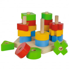Jucarie din lemn Eichhorn Stacking Toy
