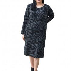 Rochie Adda casual cu imprimeu de leporad,nuanta de negru