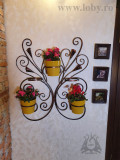 Suport de perete pentru cinci flori cale