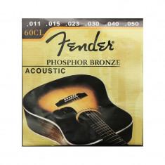 Set 6 corzi pentru chitara Classic Guitar Strings Fender, 011, 015, 023, 030, 040, 050