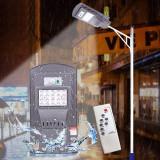 Lampa iluminat stradal LED 20W, incarcare solara, senzor miscare 120 grade, telecomanda, timer, 1000lm, IP65