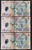 3 x 10 lei 2005 (2005) (2006) (2007) circulate stare buna conform imaginilor