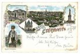 3977 - Cernauti, Bucovina, ethnic, Litho - old postcard - used - 1898