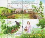 MOLDOVA 2018, Lunile anului in traditia populara, Fauna, Flora, serie neuzata