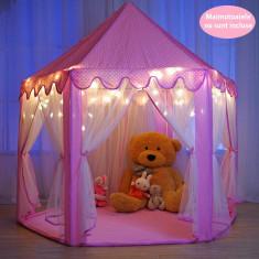 Cort de joaca copii pentru printese fete fata fetite castel roz