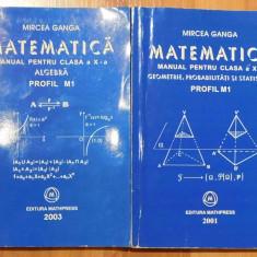 Matematica clasa X vol I + II Profil M1 de Mircea Ganga