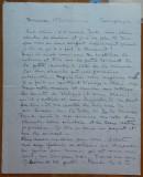 Scrisoare expediata din Franta in perioada interbelica de Cella Delavrancea