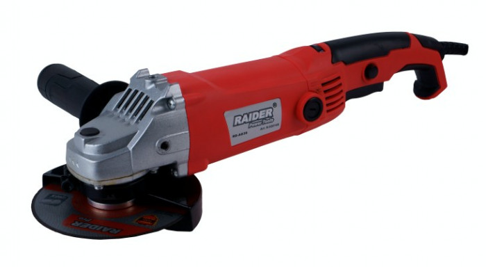 Flex 125 mm x 1150 W cu viteza reglabila Raider Power Tools