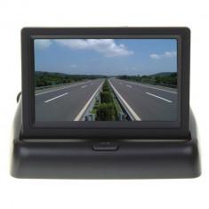 Aproape nou: Monitor auto PNI MA432, ecran color 4.3 inch, pliabil, 12V, intrare vi