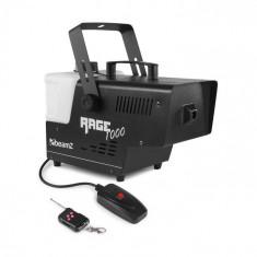 Beamz Rage 1000, generator de fum 1000W, 125 m³/min, 2l, telecomandă, capacitate rezervor 2l