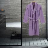 Cumpara ieftin Beverly Hills Polo Club, Halat de baie unisex, 100% bumbac, 360 gr m , Lila, L-XL