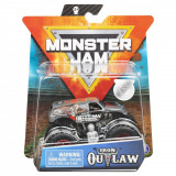 Masinuta Monster Jam, Scara 1:64, Iron Outlaw cu figurina, Gri