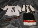 Costum traditional vechi pt.copii 4 piese-superb,IE/ILIC/FUSTA/BRAU,de colectie