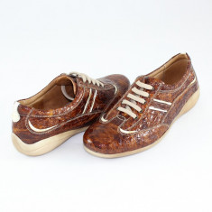Pantofi casual dama piele naturala - Nicolis maro - L-Maro-36