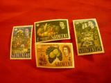 Serie St.Vincent 1965 -200 Ani Gradina Botanica St.Vincent , 4 valori