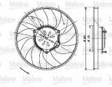 Ventilator, radiator MERCEDES SPRINTER 5-t caroserie (906) (2006 - 2016) VALEO 696082