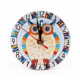 Ceas masa Flowers Owl