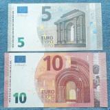5 Euro 2013 Austria + 10 Euro 2014 Germania / Lot 2 bancnote necirculate unc