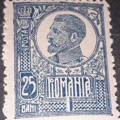 Romania 1920 Ferdinand 25 bani albastru  nestampilatat
