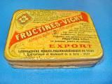 5314-Cutiuta medicala- farmaceutica veche metal Fructines-Vichy.
