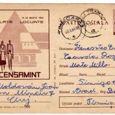 CP RECENSAMINT POPULATIE LOCUINTE 1966 MARCA FIXA 30 BANI RPR